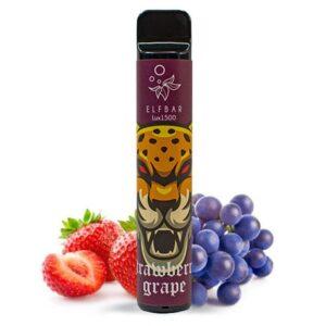 Одноразовий Pod Elf Bar Lux 1500 - Strawberry Grape